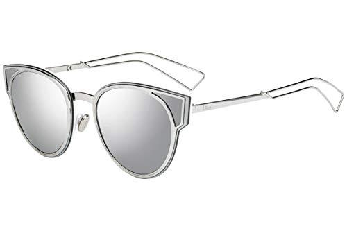 Christian Dior DiorSculpt Sunglasses Palladium w/Silver Mirror Lens 63mm 010DC DiorSculpt/S Diorsulpt Dior Sculpt