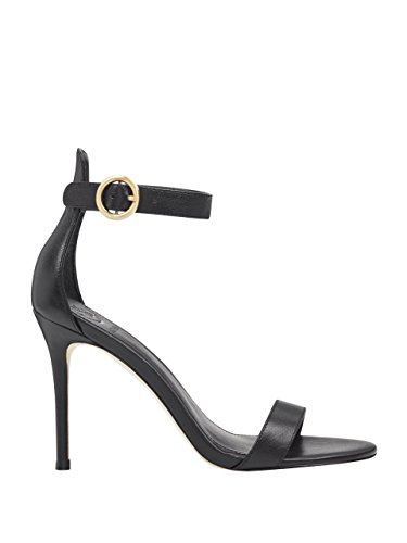GUESS Womens Kahlua Ankle-Strap Heels Black Leather aNrzcTMvc