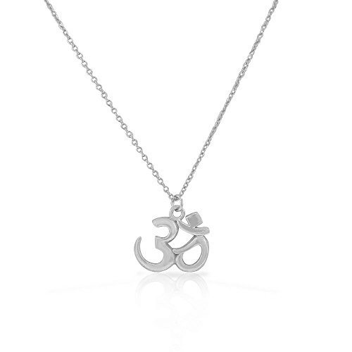 925 Sterling Silver Om Aum Ohm Yoga Hindu Pendant Necklace