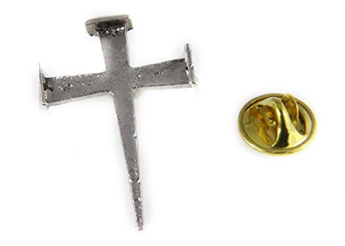 6030459 Rugged Cross Nail Lapel Pin Crucifix Brooch Tie Tack Jesus Crucifix Pin