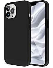 PULEN Liquid Silicone Case Designed for iPhone 13 Pro Max Case,Slim Gel Rubber Full Body Protection Shockproof Drop Protection Case - Black