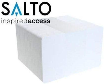 1 x Salto RFID Chipkarten MIFARE® 1K CARDS CR80 Plastikkarten Blanko
