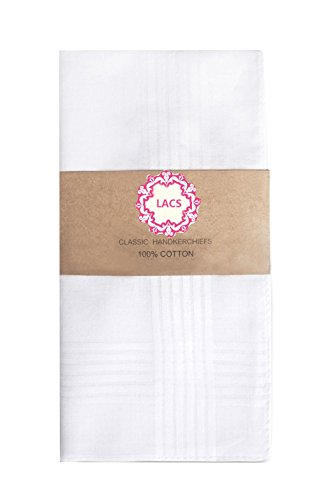 te Cotton Handkerchiefs Pack (Monogrammed Wedding Hankie)