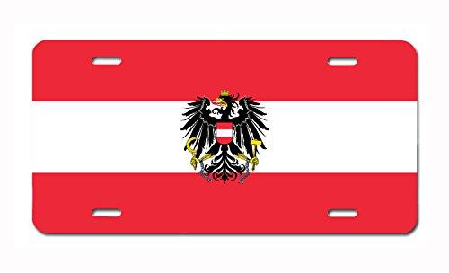Carpe Diem Designs Austrian Flag Vanity/Novelty License Plate, Made in The U.S.A.