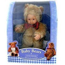 Baby Bears by Anne Geddes Bean Filled Collection plush doll