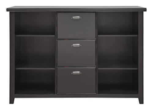 Pewter Filing File Cabinet (Martin Furniture  Kathy Ireland Tribeca Loft Black 3 Drawer File Cabinet/Bookcase)