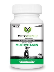 Canine Plus Multivitamin for Dogs - 90 count Tablets by VetriScience Laboratories