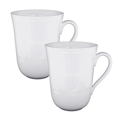Royal Copenhagen Gift Set - White Fluted 11 oz. Mug (Set of 2)