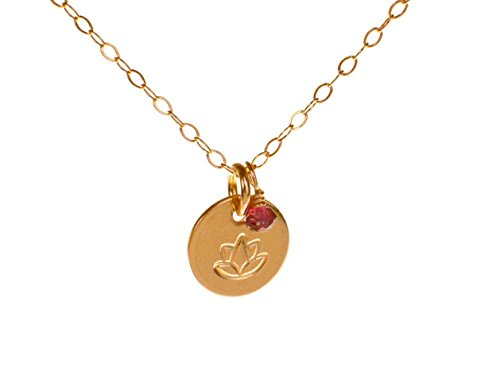 Lotus Necklace Filled Pendant Charm product image