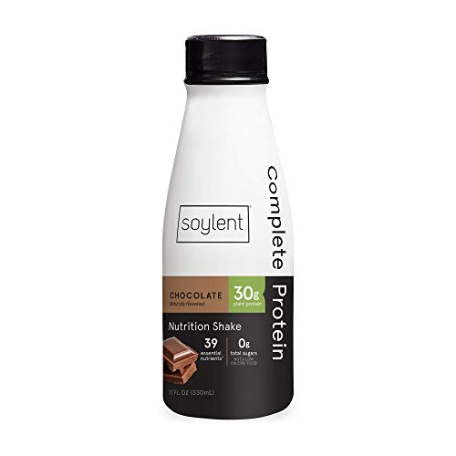 Soylent Complete Protein Gluten-Free Vegan Protein Meal Replacement Shake, Chocolate, 11 Oz, 12 Pack 1