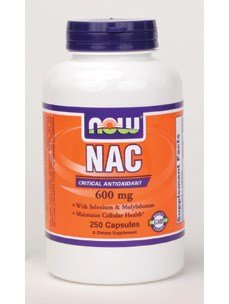 Now Foods NAC 600 mg - 250 Vcaps 8 Pack by NOW