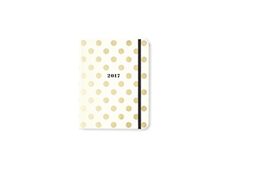 kate spade new york Conceal Sprial 2016-17 Medium Agenda, Gold - Agenda Medium
