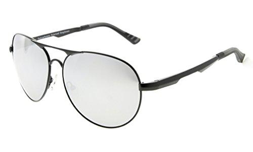 5ae940567b Eyekepper Lunettes de soleil Metal monture verres en Polycarbonate verres  Polarisees lunettes soleil style aviateur noir