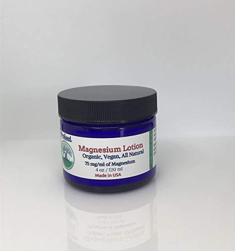 (Herbal Magnesium Lotion | Rejuvenating and Anti Aging Cell Renewing Miracle Mineral Magnesium Lotion | Food Grade Ingredients | VEGAN | 2 oz)