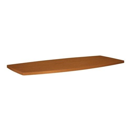 Basyx Boat Shaped Table Top, 96 by 44 by 1-1/8-Inch, Bourbon Cherry ()