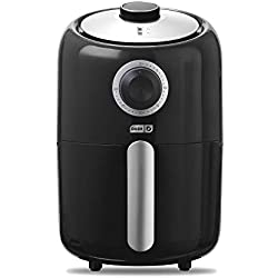 Dash Compact Air Fryer 1.2 L Electric Air Fryer Oven Cooker with Temperature Control, Non Stick Fry Basket, Recipe Guide + Auto Shut off Feature - Black