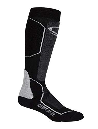 (Icebreaker Merino Women's Ski+ Mid OTC Socks (Black/Oil/Silver, Small))