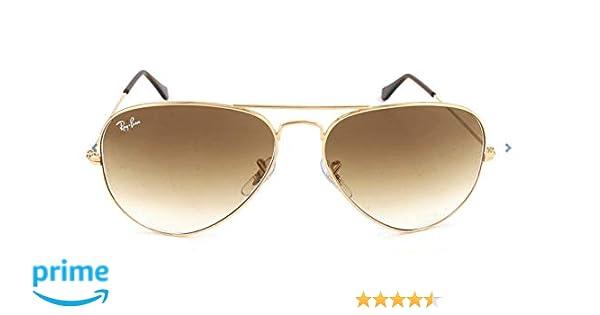 Ray-Ban - Gafas de sol Aviador RB3025 Aviator Large Metal, Brown