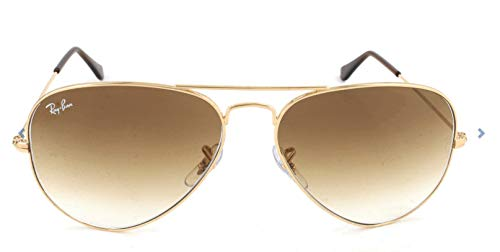 Ray-Ban RB3025 Aviator Sunglasses, Gold/Brown Gradient, 55 ()