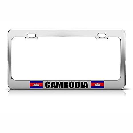 Cambodia License Plate Frame Tag Holder