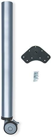 Emuca 2034625 - Pata regulable para mesa con rueda con freno (Ø 60 x 735 mm) en acero pintado aluminio: Amazon.es: Bricolaje y herramientas