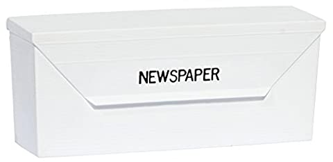 Eagle Distribution & Delivery Supplies, Plastic Newspaper Delivery Box Receptacle, Mountable, Weather Resistant, White, A-6190