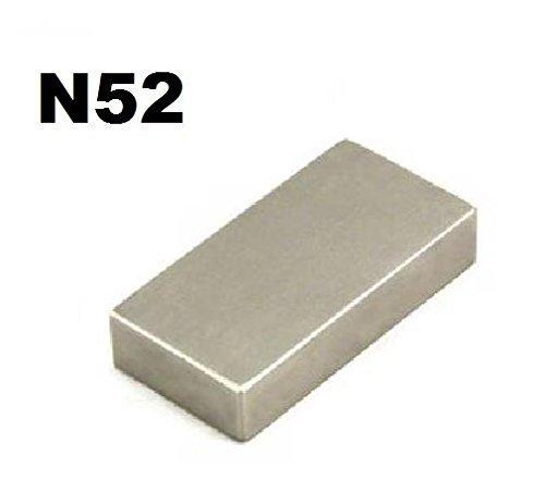 A-goo Grade N52 Neodymium Block Magnet 50mm x 25mm x 10mm Very Powerful Mro DIY 5 Centimeter