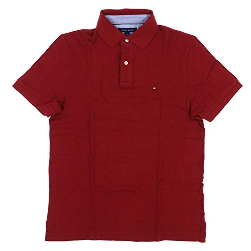 Tommy Hilfiger Mens Custom Fit Solid Color Polo Shirt (Medium, - Color Polo