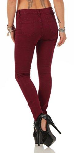 Jeans Fashion4Young rouge Fashion4Young Femme Jeans bordeaux rouge Femme 5w6SW71q