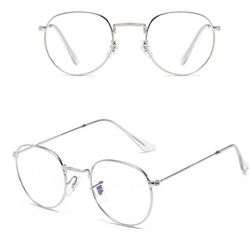 Protection soleil Qualité for UV lunettes Designer à Zhhlinyuan Mode Sunglasses Women Oversized Sport Men de Round Silver Metal lunettes Étui WwgY6g4zq1