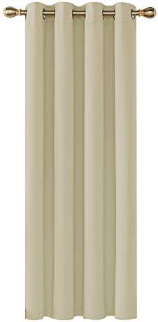 Deconovo Tenda Oscurante Termica Isolante con Occhielli per Finestre Soggiorno Interni Beige 140×260 CM 1 Pannello