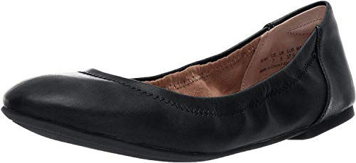Amazon Essentials Women's Ballet Flat, Black, 8 B US