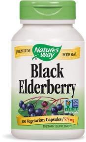 Nature's Way Black Elderberry, 575 milligrams Veggie Capsules, 100 Count (Pack of 3) Review