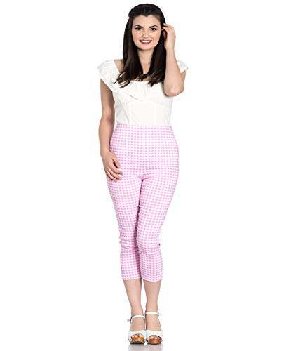 Hell Vichy Corsaire Rose Uk 8 Pantalon 50 Cropped xs Judy Années Bunny qIXxFZrX