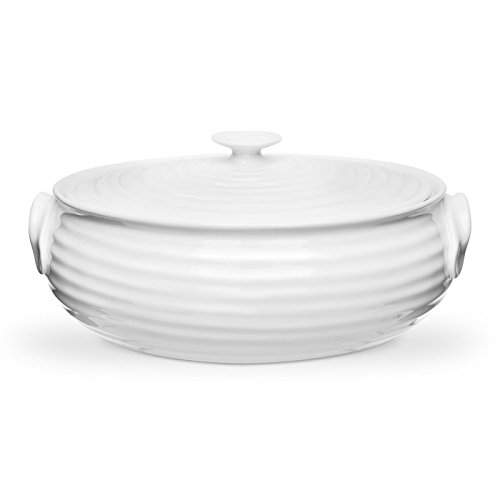 White Oval Covered Casserole (Portmeirion Sophie Conran White Oval Casserole, Small)