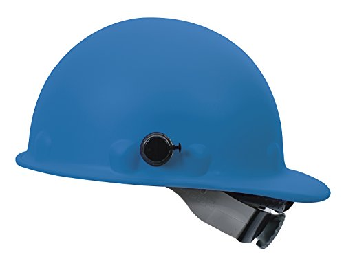 Fibre-Metal by Honeywell P2AQSW71A000 Super Eight Swing Strap Fiber Glass Cap Style Hard Hat with Quick-Lok, Blue