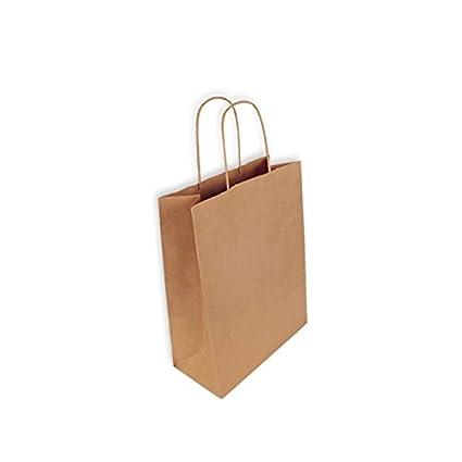 Cajadecarton - 300 Bolsas de Papel Kraft 24 + 11 x 31 cm ...