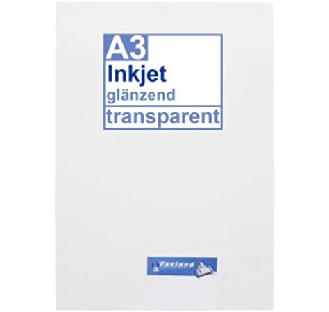 Inkjet lot de 10 film autocollants transparent format a3 à imprimer: Amazon.es: Oficina y papelería