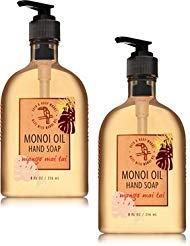(Bath and Body Works 2 Pack Mango Mai Tai Hand Soap With Monoi Oil. 8 Oz.)