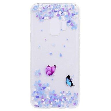 Casos hermosos, cubiertas, Funda Para Samsung Galaxy S9 S9 Plus Transparente Diseños Funda Trasera Mariposa Suave TPU para S9 S9 Plus S8 Plus S8 S7 edge S7 S6 edge ( Modelos Compatibles : Galaxy S6 Ed Galaxy S8