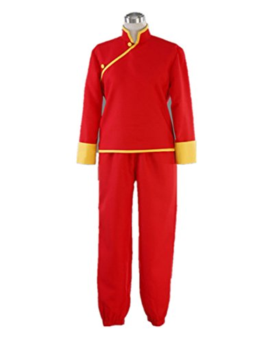 Love Jump Gintama Cosplay Costume-Leader Kagura Cheongsam 5th