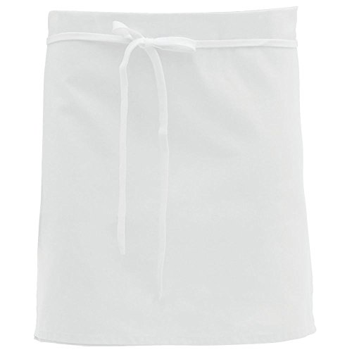 Dexter White Poly Cotton 4-Way Reversible Apron - 34
