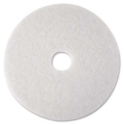 3M Commercial Ofc Sup Div 08481 Super Polish Pad,Removes Scuff/Black Heel,17 in,5/CT,White by 3M