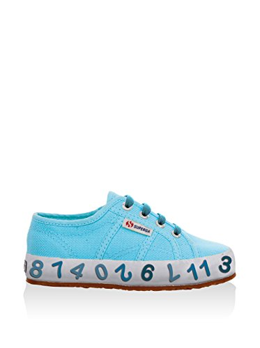 Superga 2750-COTJ FP - Zapatillas de tela infantil azul turquesa