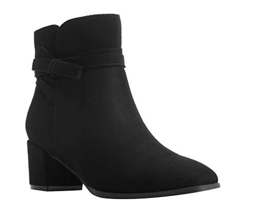 IMPO EMAN Casual Bootie , Black Faux Suede Stretch, 7 B(M...