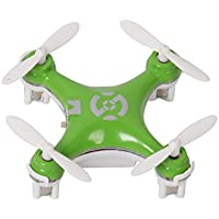 Mini Remote-controlled Rechargeable RC Quadcopter Helicopter Rotatable Motor Arm Drone 4 Channels 6 Axis Gyro 2.4 Ghz Green