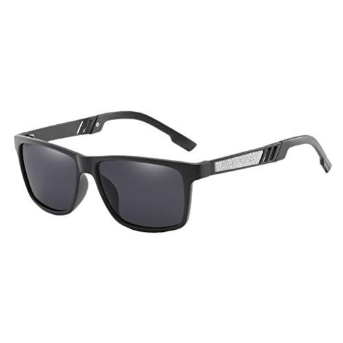 Mens Hommes Black Protection Conduite Soleil Vacances Des Polarisé pour Zhhlinyuan Pour en UV400 Lunettes Lunettes des Soleil Voyageant des Sunglasses de Bwz7qBxHR
