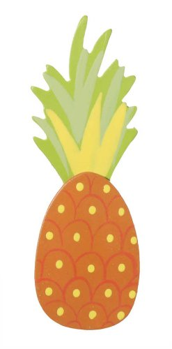 Darice 9199-38 Natural Painted Wood Cutout, Pineapple with Leaves