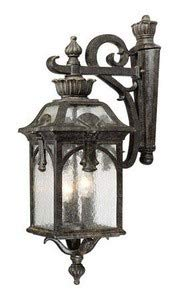 3 Collection Belmont Light - Acclaim 7112BC Belmont Collection 3-Light Wall Mount Outdoor Light Fixture, Black Coral
