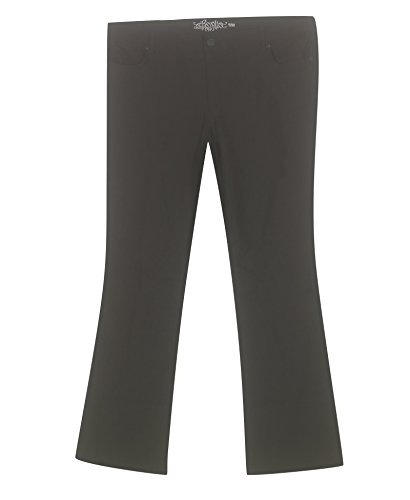 Womens Stretch Carpenter Jean (Revolt Plus Size Lift and Shape Super Stretch Jean -Size: 22 Color Black)